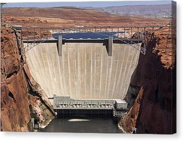 Glen Canyon Dam - Bridge Canvas Print by Mike McGlothlen
