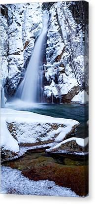 Glen Ellis Falls - Winter Beauty Canvas Print by Jeff Sinon