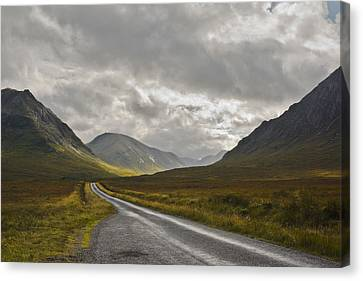 Glen Etive In The Scottish Highlands Canvas Print by Jane McIlroy