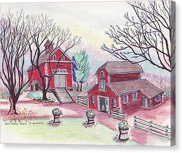 Glen Magna Farms - The Barns Canvas Print