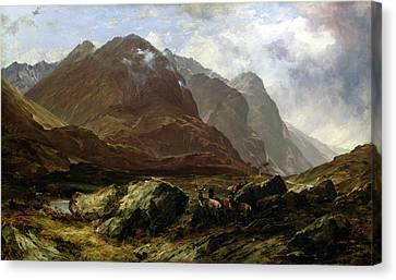 Glencoe, 1864 Canvas Print by Horatio McCulloch