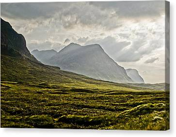 Canvas Print featuring the photograph Glencoe Scotland by Sally Ross