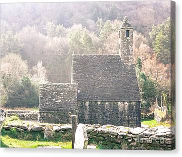 Canvas Print - Glendalough Stone Building by Judi FitzPatrick