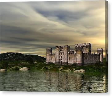 Glendor Castle Canvas Print by John Pangia