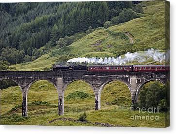 Glenfinnan Viaduct - D002340 Canvas Print by Daniel Dempster