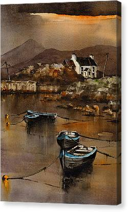 Glengarriff Sunset West Cork Canvas Print by Val Byrne