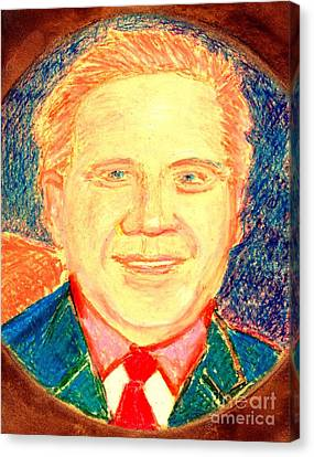 Canvas Print featuring the painting Glenn Beck Controversy by Richard W Linford