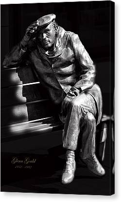 Glenn Gould Canvas Print by Andrew Fare