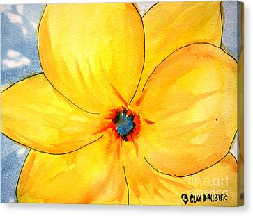 Canvas Print featuring the painting Glicee Cyan-a-floral by Clayton Bruster