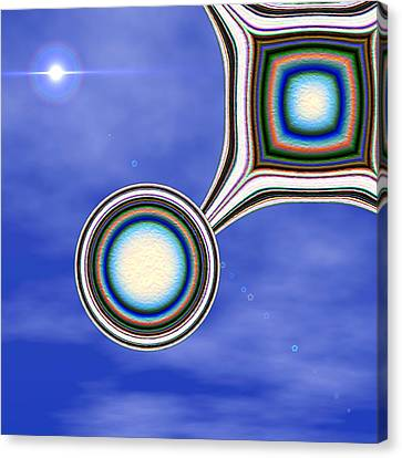 Fractal Orbs Canvas Print - Glider by Wendy J St Christopher