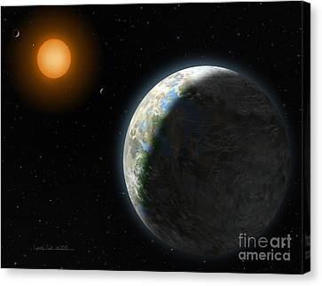 Gliese 581 G Canvas Print by Lynette Cook