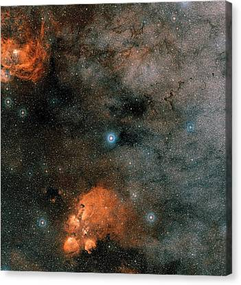 Gliese 667 Triple-star System Canvas Print