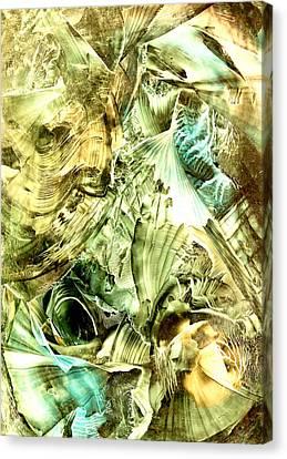 Glimpse Of New Gold Canvas Print by Cristina Handrabur
