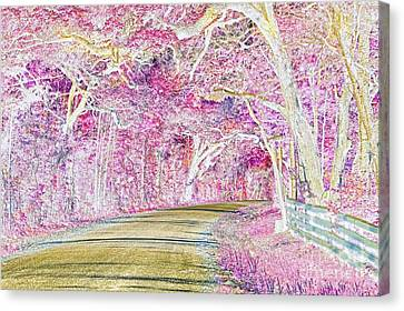 Glinda The Good Witch's Neighborhood Canvas Print by Delilah Downs