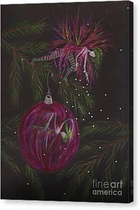 Glitter Drop Canvas Print by Dawn Fairies