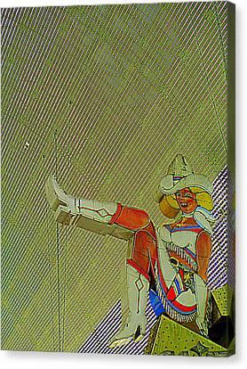 Glitter Gulch Cowgirl Canvas Print