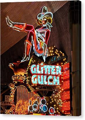 Glitter Gulch - Downtown Las Vegas Canvas Print