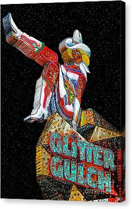 Glitter Gulch Girl Canvas Print
