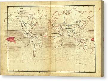 Global Circumnavigation Canvas Print