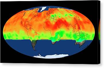 Global Co2 Concentrations Canvas Print by Nasa's Scientific Visualization Studio
