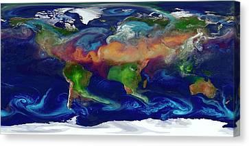 Global Dust Levels Canvas Print by William Putman/nasa Goddard Space Flight Center