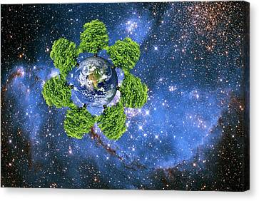 Global Environment Canvas Print by Victor De Schwanberg