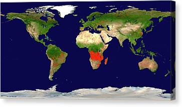 Wildfires Canvas Print - Global Fire Map by Nasa