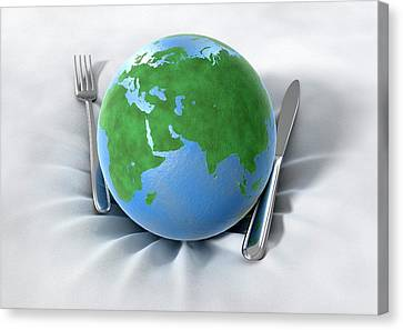 Global Food Production Canvas Print by Animated Healthcare Ltd