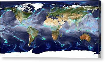 Global Precipitation Canvas Print by William Putman/nasa Goddard Space Flight Center