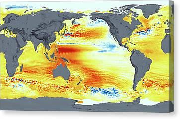 Global Sea Level Rise Canvas Print