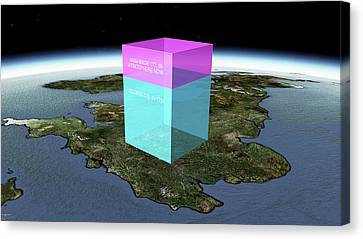 Global Volume Of Man-made Co2 Canvas Print
