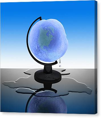 Global Warming, Conceptual Image Canvas Print by Science Photo Library