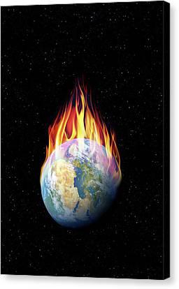 Industrial Concept Canvas Print - Global Warming by Detlev Van Ravenswaay
