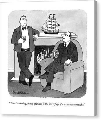 Global Warming Canvas Print by J.B. Handelsman