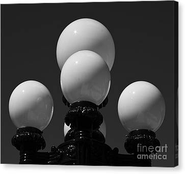 Canvas Print featuring the photograph Globes by Linda Bianic