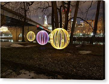 Globes Of Hartford Canvas Print by Andrea Galiffi
