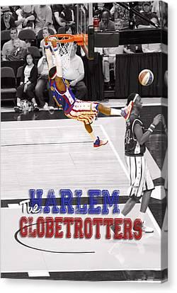 Globetrotters Super Slam Canvas Print by Robert Saunders Jr