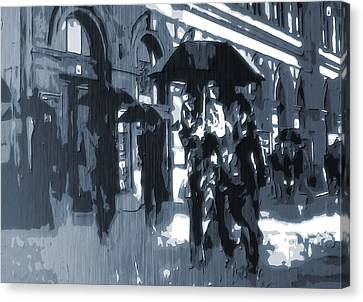 Gloomy Day In The City Canvas Print by Dan Sproul