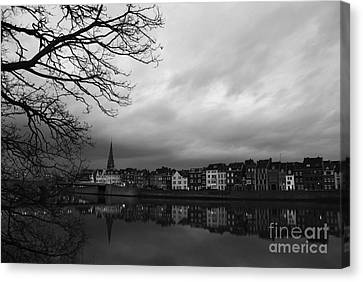 Gloomy Evening Canvas Print by Rajiv Chopra