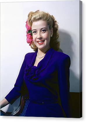 Gloria Canvas Print - Gloria Dehaven by Silver Screen