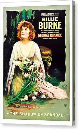Glorias Romance, Billie Burke, Chapter Canvas Print