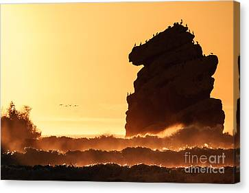 Canvas Print featuring the photograph Glorious Afternoon At Morro Bay by Terry Garvin