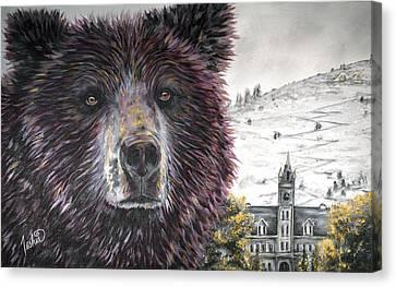Glorious Griz Canvas Print by Teshia Art