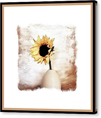 Digital Sunflower Canvas Print - Glorious Sunflower by Marsha Heiken