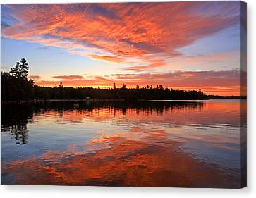 Glorious Sunrise At The Lake Canvas Print