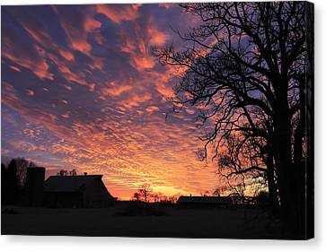 Southern Indiana Canvas Print - Glorious Sunset by Andrea Kappler