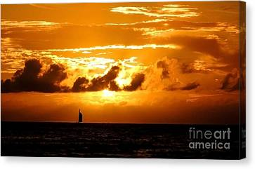 Glorious Sunset Canvas Print by Kristine Merc