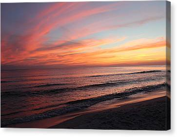 Glorious Sunset Canvas Print by Vicki Kennedy