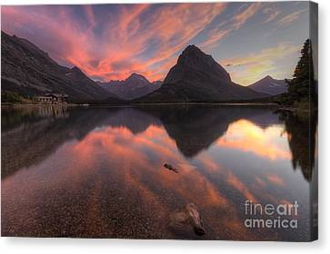 Glorious Swiftcurrent Canvas Print by Mark Kiver