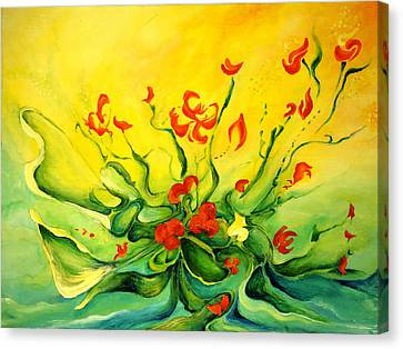 Canvas Print featuring the painting Glorious by Teresa Wegrzyn